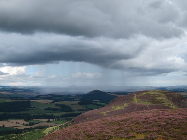 Rain shower from middle hill - © William Mackesy