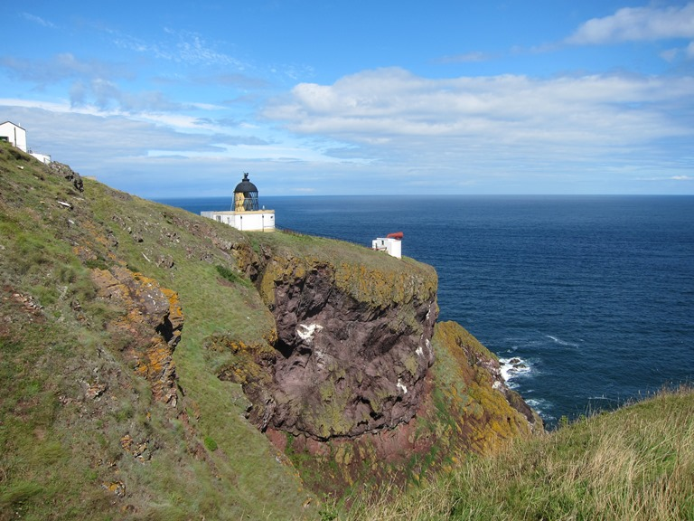 St Abbs Head: Early lighthouse built by Stevenson family - © William Mackesy