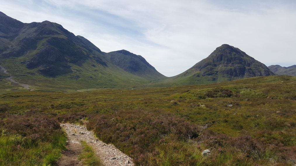 United Kingdom Scotland SW Highlands, West Highland Way, From climb towards Devil's Staircase, Walkopedia