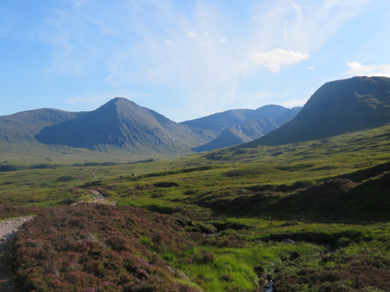 West Highland Way: Looking back south over the Ba glen, by Rannoch Moor - © William Mackesy