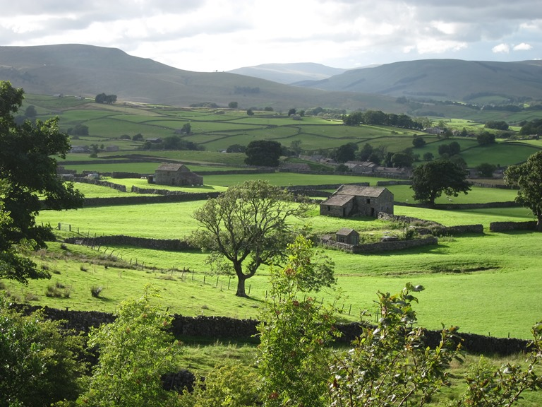 Wensleydale: West along Wensleydale from Wether Fell, evening light 2 - © William Mackesy