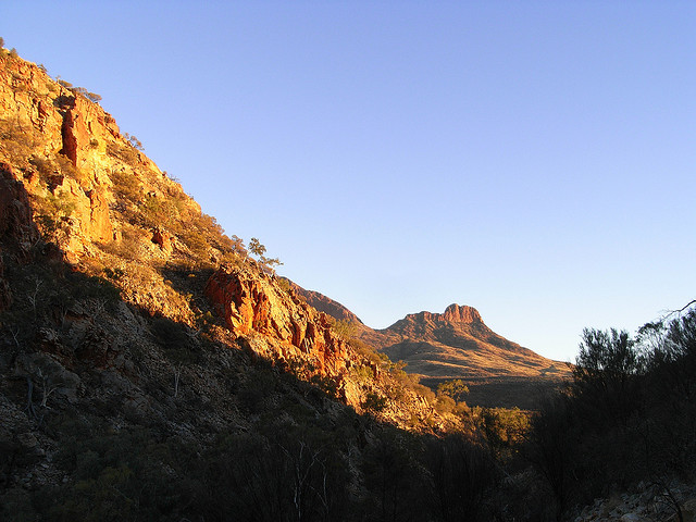 West Macdonnell Ranges: mt sonder from rocky bar gap - © andydoleman
