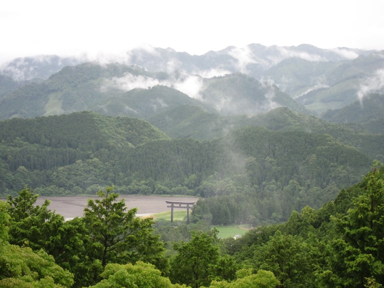 Kumano Kodo: Nakahechi - Hongu Torii gate on classic misty day  - © William Mackesy