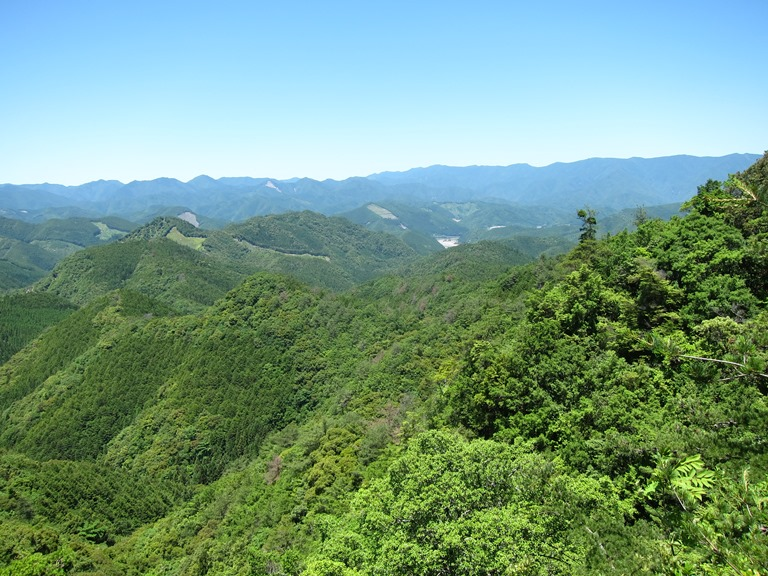 Kumano Kodo: Nakahechi - Last glimpse of Hongu basin in Kii mountains  - © William Mackesy
