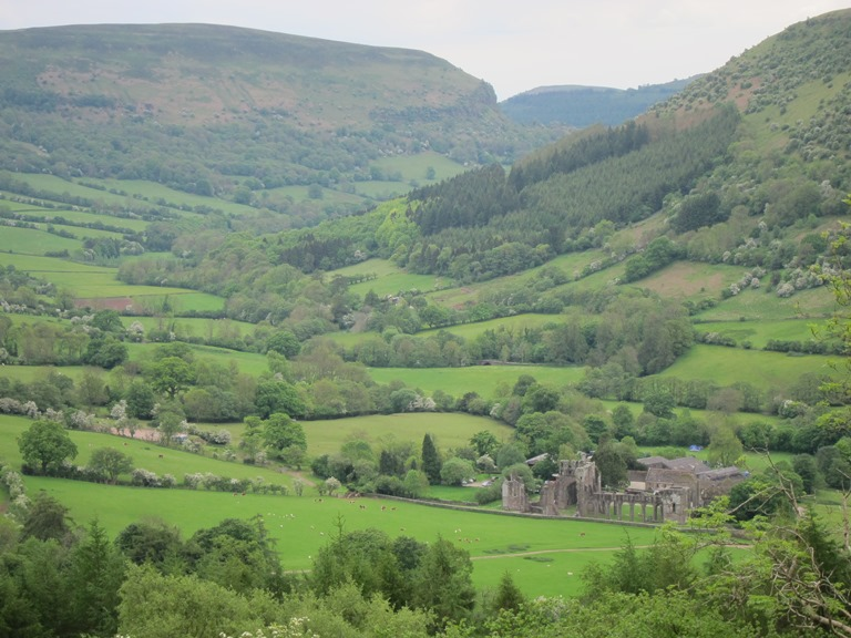 To Hatterall Ridge looking down on Llanthony - © William Mackesy