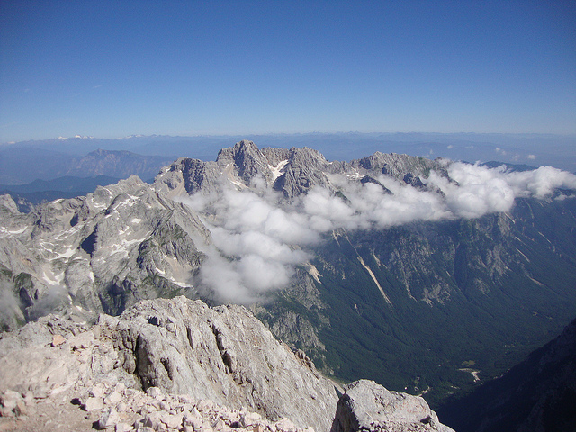 views from Triglav Summit - © flickr user tomazlasic