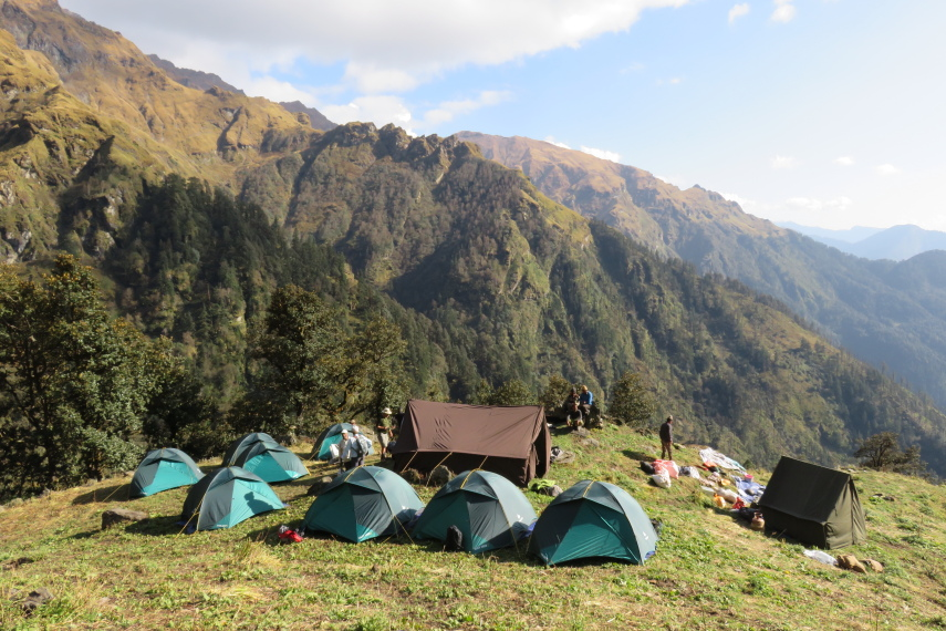 Campsite below Kuari Pass - © Robin Bevan