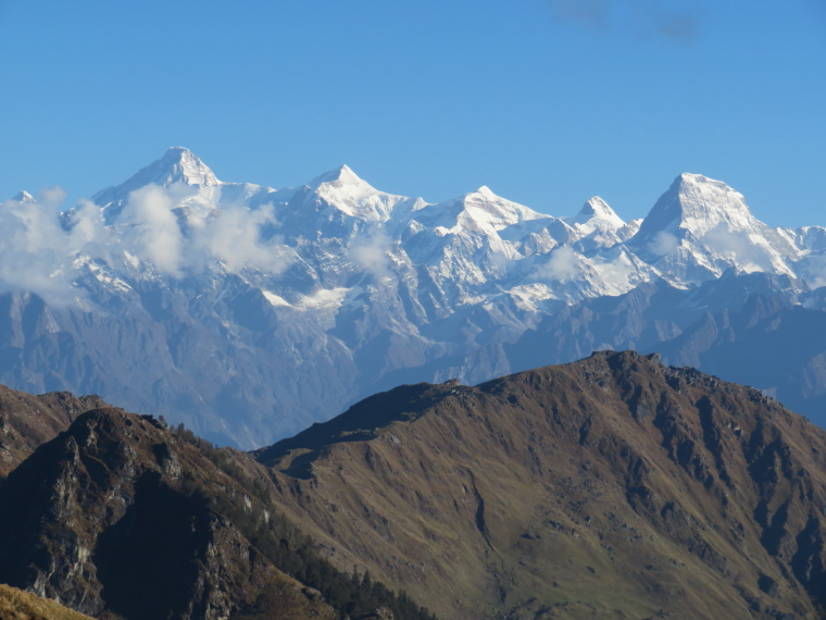 Kuari Pass (Curzon Trail) : View from Kuari pass - © William Mackesy