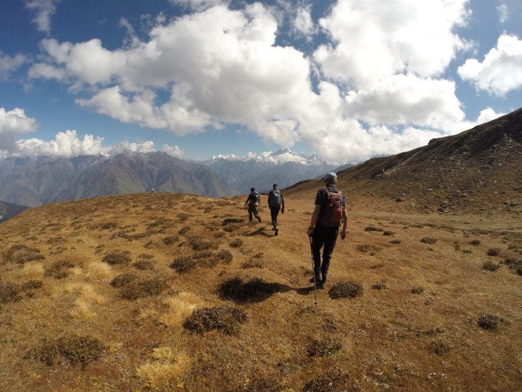 India NW: Uttarakhand/Garwhal, Kuari Pass (Curzon Trail) , One the ridge above the trail, day 5 , Walkopedia
