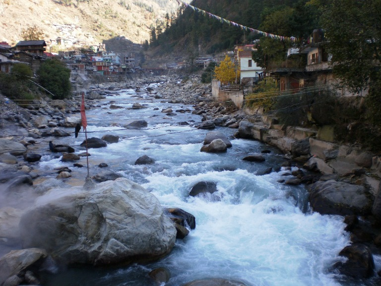 Parvati River - View from Manikaran, HP - ©Raji Binory flickr user...