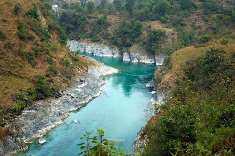 India NW: Uttarakhand/Kumaon, Saryu to Ram Ganga Valleys, Turquoise Ramganga, Thal II, Walkopedia