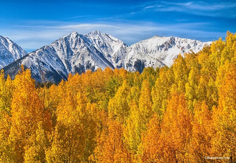 USA Western, Mounts Elbert and Massive, Colorado Rocky Mountain Autumn Beauty  , Walkopedia