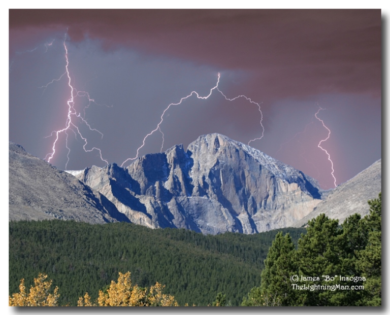 Longs Peak and Lightning  - © TheLightningMan.com flickr user
