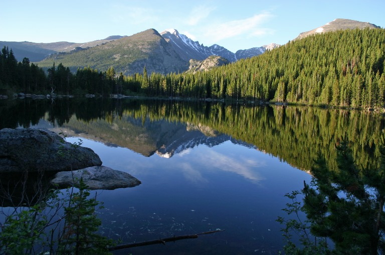 Reflection on Bear Lake in the Rocky Mountain National Park  - © Frank Kovalchek flickr user