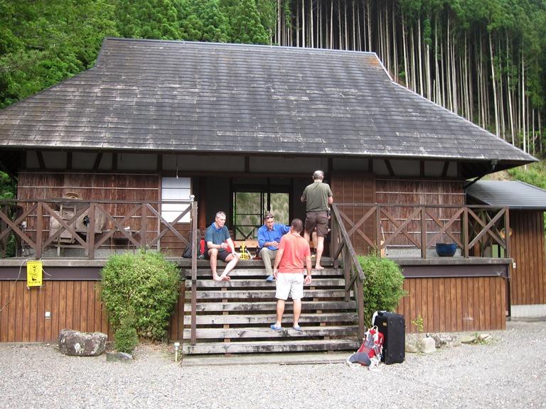Japan Kansai: Kii Peninsula, Nakahechi Trail , Beers on Tsugizakura guesthouse steps , Walkopedia