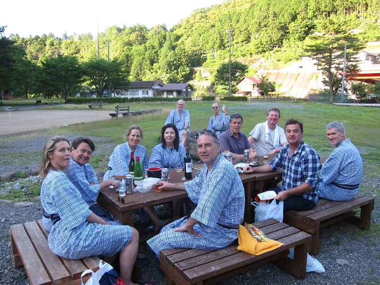 Nakahechi Trail : Beer time, Koguchi former school  - © William Mackesy