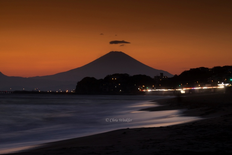 Japan Tokyo Region, Fuji-san (Mount Fuji) Area, Orange Sunset , Walkopedia