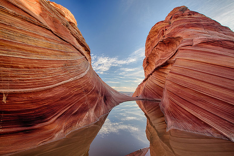 The Wave: Paria Canyon  - © Wiki Bureau of Land Management