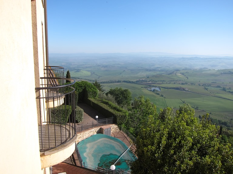 From Montalcino hotel, morning  - © William Mackesy