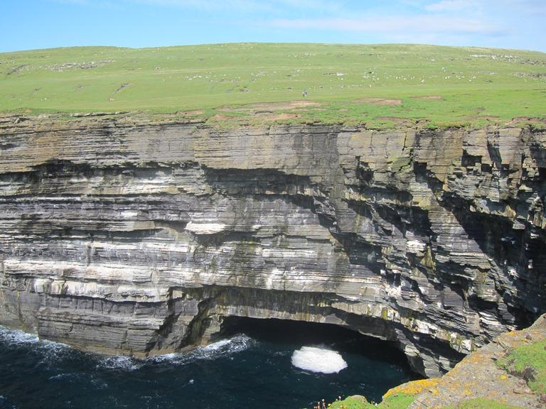 United Kingdom Scotland Orkney Islands, Orkney Islands, Sea cave near Noup Head, Walkopedia
