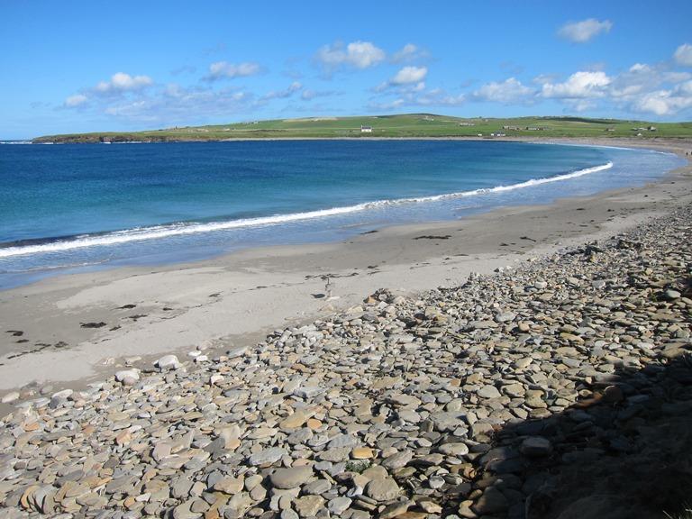 United Kingdom Scotland Orkney Islands, Orkney Islands, Beach and sculpture, Scara Brae, Walkopedia
