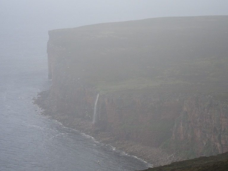 Waterfall on Hoy through mist - © William Mackesy