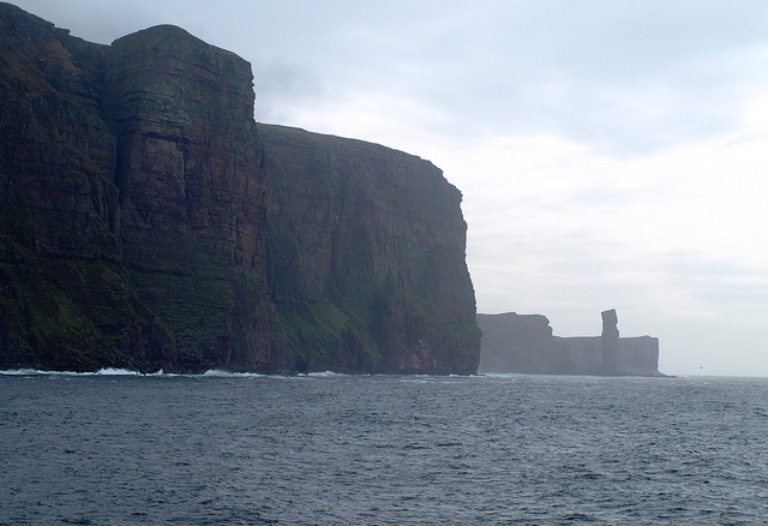 "St John""s Head and the Old Man of Hoy - © Flickr user: pgchamberlin"