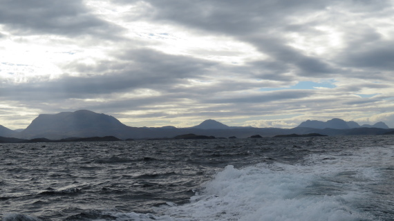 Assynt Peninsula: Assynt from the sea, north - © William Mackesy