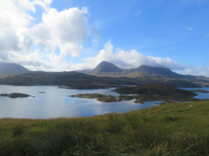 United Kingdom Scotland NW Highlands Assynt, Assynt Peninsula, Quinag from the north-east, Walkopedia