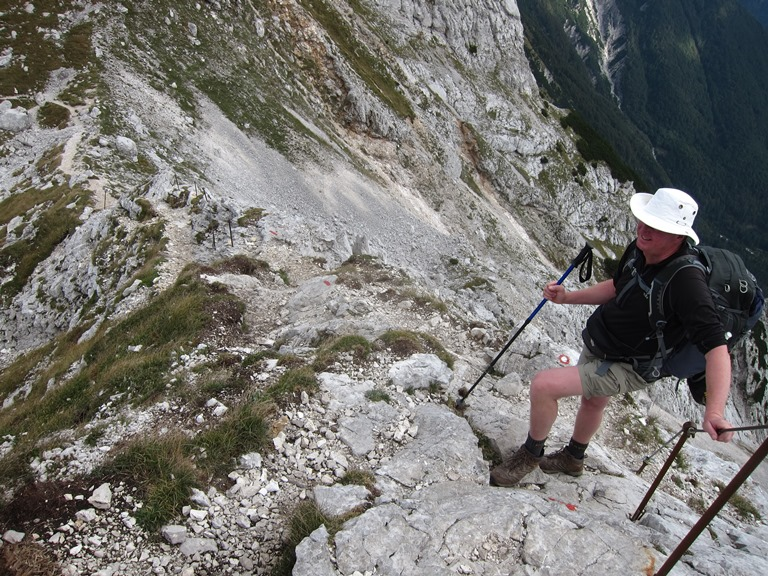 Lower Bohinj Ridge, sharp spine below Vogel - © William Mackesy