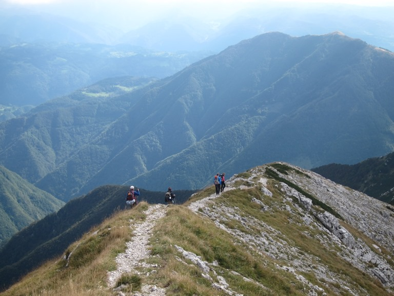 Grand Bohinj Horseshoe: Lower Bohinj Ridge, sharp ridge south from Vogel - © William Mackesy
