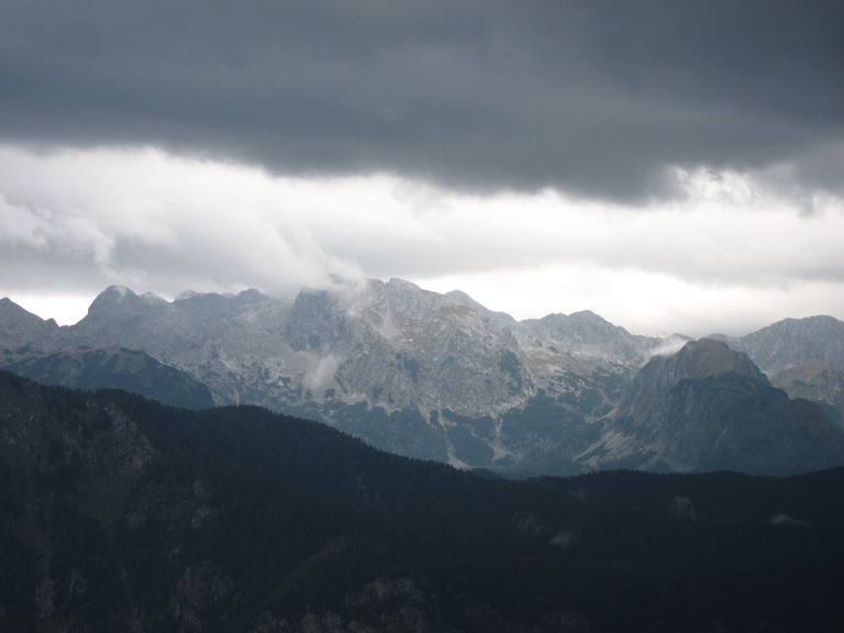 Triglav massif from Lower Bohinj Ridge - © William Mackesy