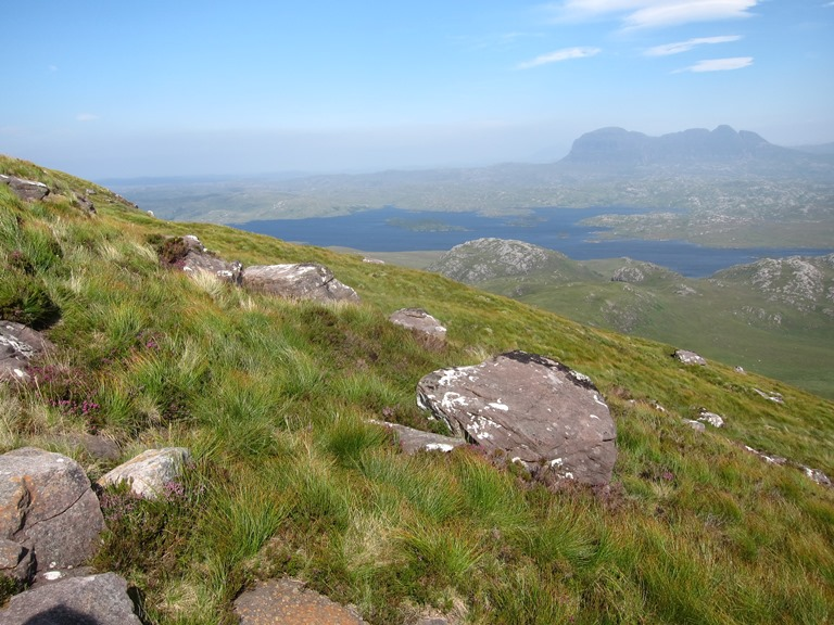 United Kingdom Scotland NW Highlands Assynt, Suilven, Suilven from Stac Pollaidh, Walkopedia