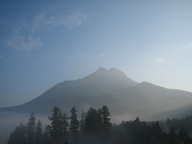 Mt. Yufu in the morning - © Uploaded to wikipedia by Reggaeman