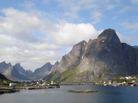 Up the fjord from Reine - © Patrick Gibbs