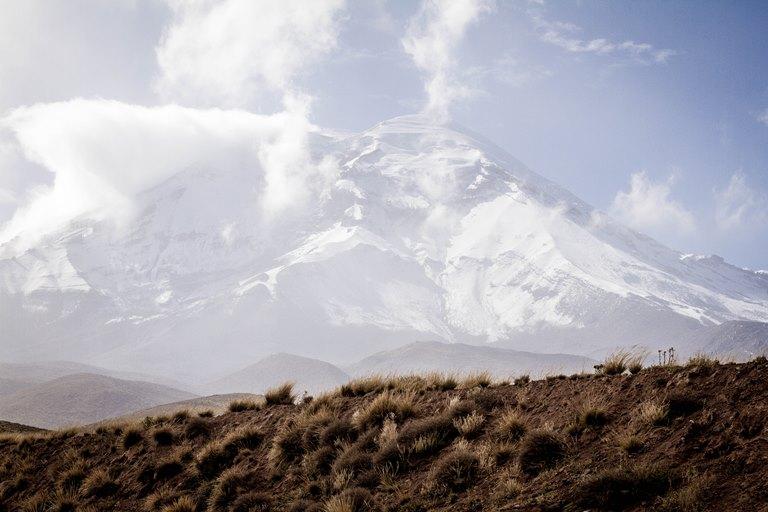 Ecuador Central Andes, Avenue of the Volcanoes, Chimborazo from Carihuairazo , Walkopedia