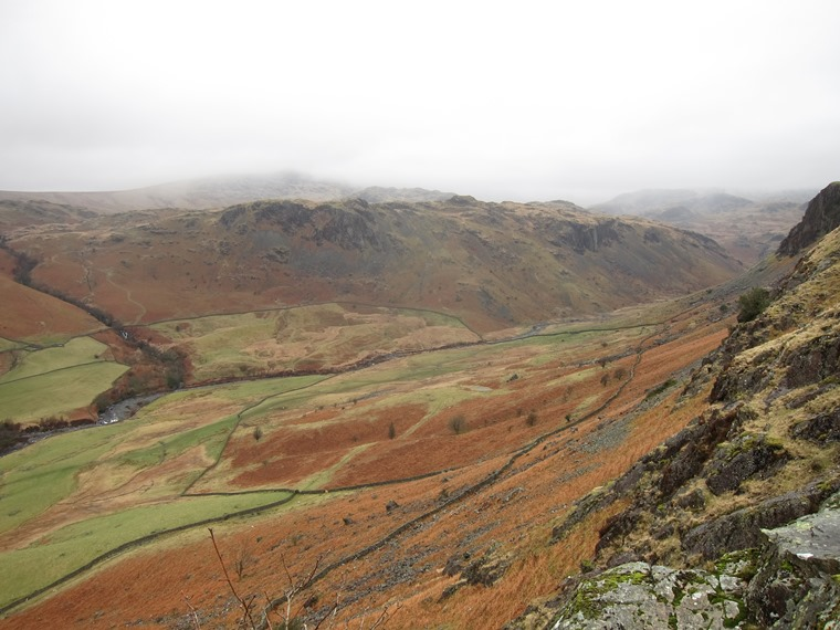 Langdale Valleys: Upper Little Langdale valley, March - © William Mackesy