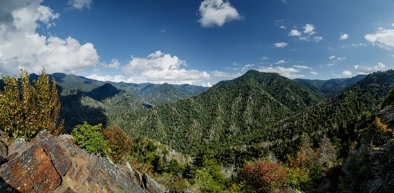 Mount LeConte from the Chimney Tops - © Tim Lumley