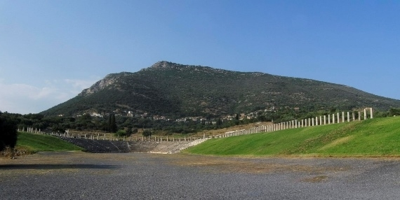 Ancient Messene: View of the Stadium of Ancient Messene - © Flickr user Franco Pecchlo