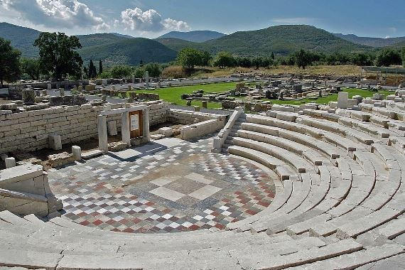 Ancient Messene: View of the Odeon - © Wiki user - Herbert Ortner
