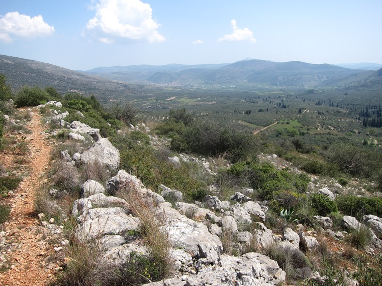 Across Berbati valley from Mycenean road - © William Mackesy