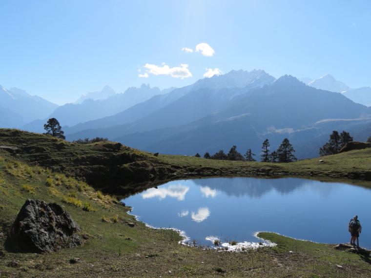 Garwhal, Kumaon Himalaya : Nanda Devi massif from Gorson Top flank - © William Mackesy