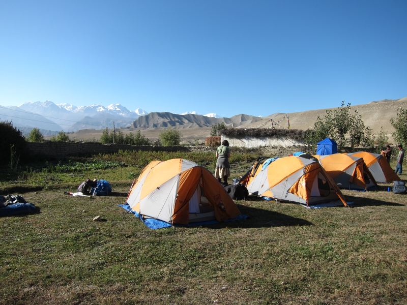 Campsite, Tsarang - © William Mackesy