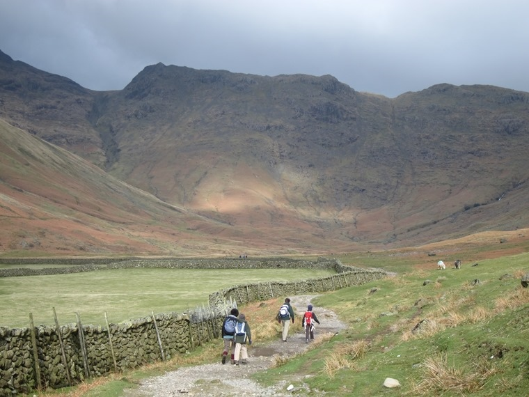 Scafell Pike: Far end of Great Langdale Valley - © William Mackesy