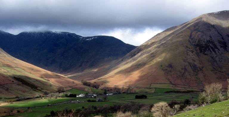 Scafell Pike: Wasdale Head, nestling in the fells - © Flickr user - FGMB