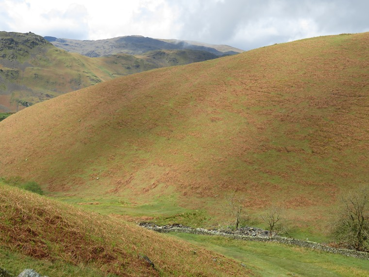 Coast to Coast, Lake District: Across Tongue Gill, good colours - © William Mackesy