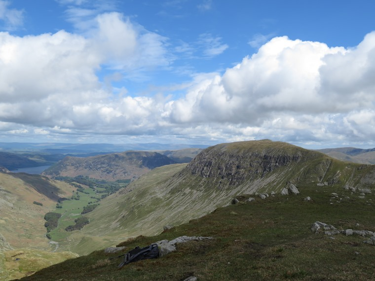 Coast to Coast, Lake District: St Sunday Crag and Patterdale from Dollywaggon Pike - © William Mackesy