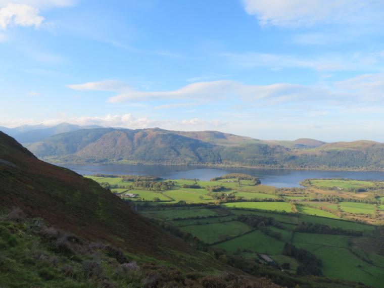 United Kingdom England Lake District, Skiddaw, Over Bassenthwaite Lake from ridge to Ullock Pike, Walkopedia