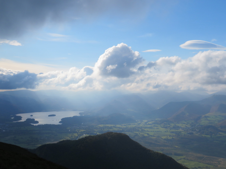 United Kingdom England Lake District, Skiddaw, North to Dewent Water from below Ullock Pike, Walkopedia