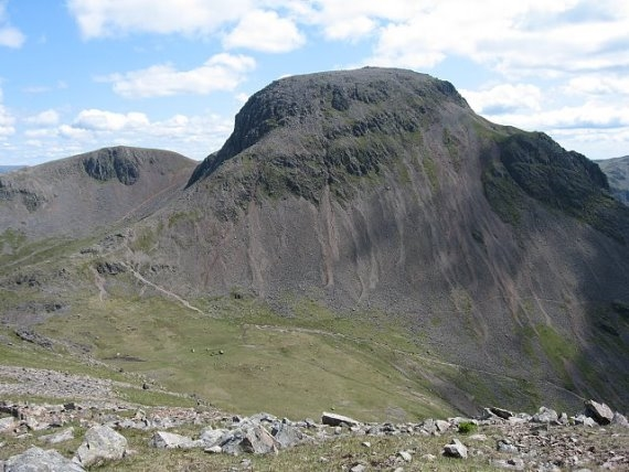 "Great Gable""s Massive Bulk from Kirk Fell to the West - © Wiki user Ann Bowker"